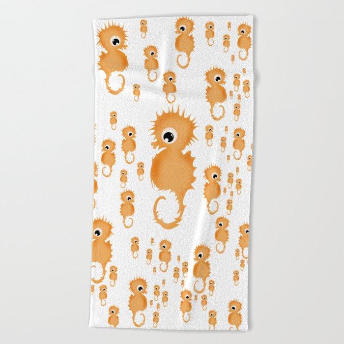 Sea horses Pattern Beach Towel