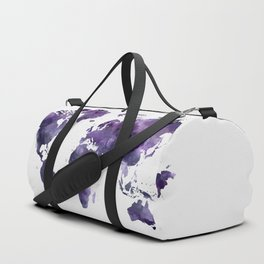 Purple World Map Duffle Bag