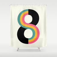 physics Shower Curtains featuring Infinity by Andy Westface