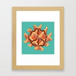 Belgium Peace Waffle Framed Art Print