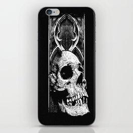 Gothic Skull white ink iPhone Skin