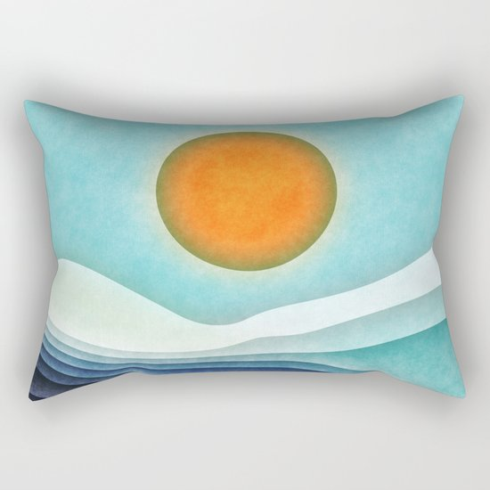 Sunshine Over Blue Mountains Rectangular Pillow