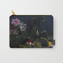 Classic  still life with flowers, fruit, vegetables and wine Carry-All Pouch