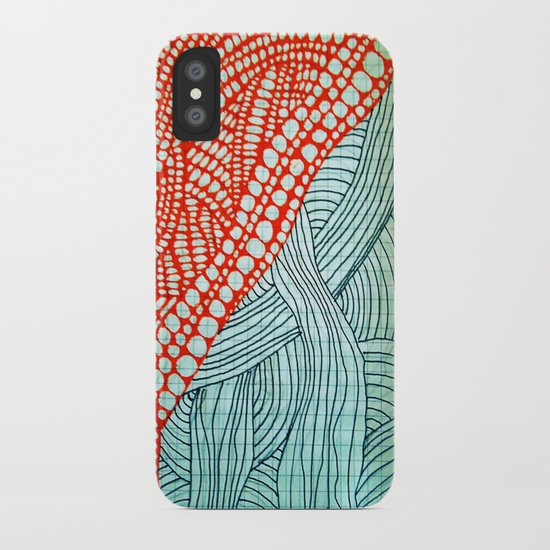 "Hand Drawn ""Orange Stones"" Doodle iPhone Case"