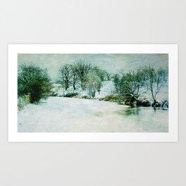 Winter @ The Boat Yard  Art Print