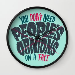 Opinions on Facts Wall Clock