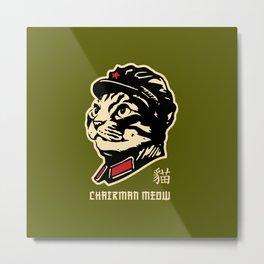 Chairman Meow Communist Cat Metal Print