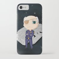 battlestar iPhone & iPod Cases featuring Colonel Tigh 2 | Battlestar Galactica by The Minecrafteers