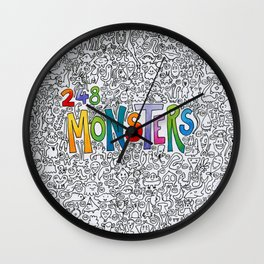 248 monsters Wall Clock