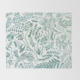 GREEN HERBS Throw Blanket