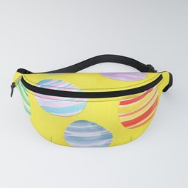 Easter Egg Watercolor Pattern -  Yellow Fanny Pack