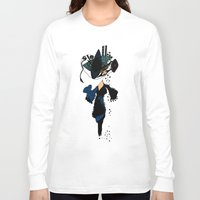 shopping Long Sleeve T-shirts featuring shopping queen by Marie Elke Gebhardt