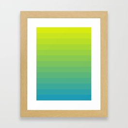 TROPICAL GRADIENT - YELLOW AND BLUE Framed Art Print