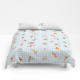 Cute cartoon finches pattern Comforters