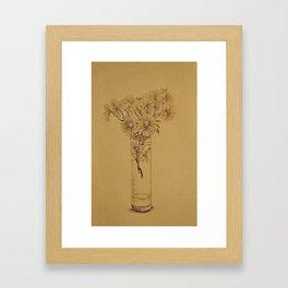 chrysanthemums of white  Framed Art Print