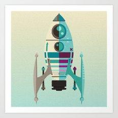 Rocket X Art Print