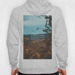 The best time to plant a tree was 20 years ago. The second best time is now. Hoody