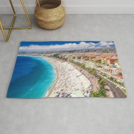 The French Riviera Landscape Painting by Jeanpaul Ferro Rug