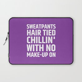 SWEATPANTS HAIR TIED CHILLIN' WITH NO MAKE-UP ON (Purple) Laptop Sleeve