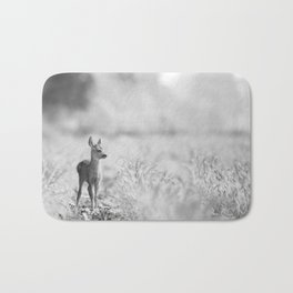 Baby Deer (Black and White) Bath Mat