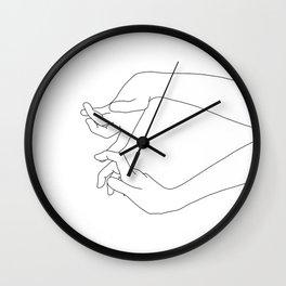 Hands line drawing - Robin Wall Clock