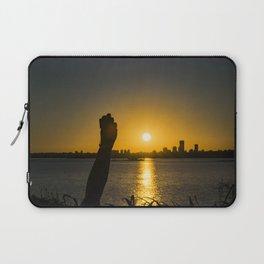Sunset Cityscape Scene, Montevideo, Uruguay Laptop Sleeve