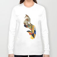 jack russell Long Sleeve T-shirts featuring Walking Shadow, Jack Russell by Jason Ratliff