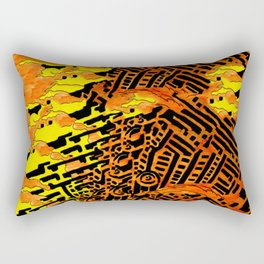 Nightmares:  City Asleep in the Raging Inferno Rectangular Pillow