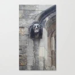 The Melted Stone Face Canvas Print