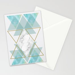 Triangle Art Stationery Cards