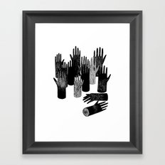 The Forest of Hands Framed Art Print