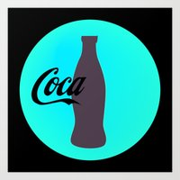 coca cola Art Prints featuring Coca cola by Mary Stephenson