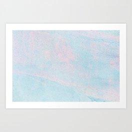Cotton Candy Colors Art Print