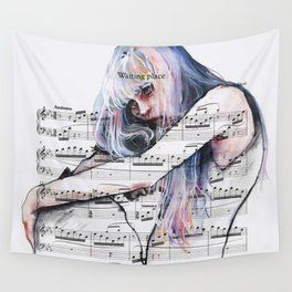 Waiting Place on sheet music Wall Tapestry