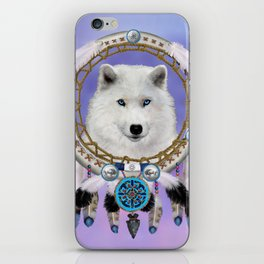 Native American Indian Wolf Spirit iPhone Skin