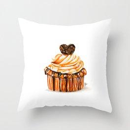 Caramel Delight Throw Pillow