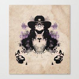 Rorschach Undertaker | Textured Canvas Print