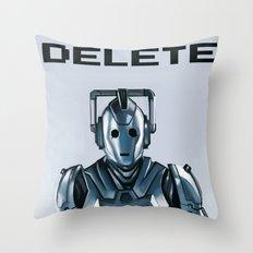 Delete Throw Pillow