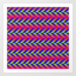 Zig Zag Folding Art Print