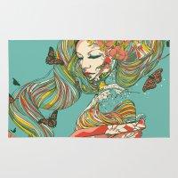 geisha Area & Throw Rugs featuring Geisha by Huebucket