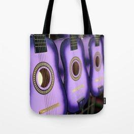 Purple Guitars Tote Bag