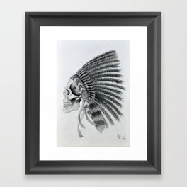Native American Headdress Framed Art Print