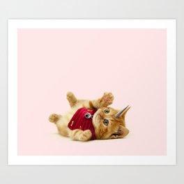 Unicorn Cat Art Print