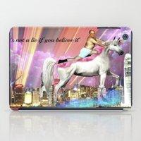 "seinfeld iPad Cases featuring ""It's Not A Lie If You Believe It"" by Lauren Little"