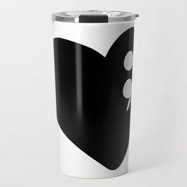 Semicolon Heart for mental health awareness Travel Mug