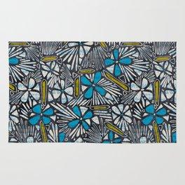 Asha Floral - Blue Rug