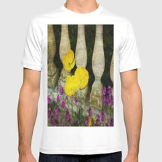 Concrete Flowers Mens Fitted Tee MEDIUM White
