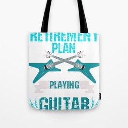 Retired Men Plays Guitar Tote Bag