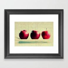 three apples Framed Art Print