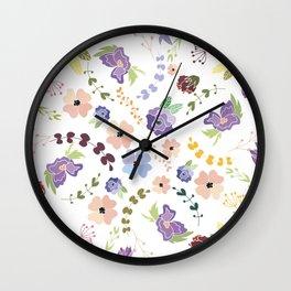 Floral Pattern II Wall Clock